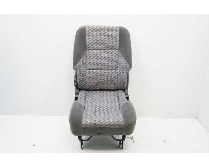 1+1 GREY-BLACK FABRIC FRONT SEAT COVERS FOR RENAULT ESPACE KANGOO TRAFIC MASTER