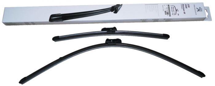 "650 mm 400 mm Pour Peugeot-Partner 2008 26/"" 16/"" /> Front Wiper Blades uniblade"